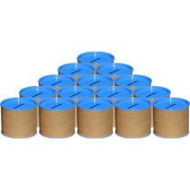 50 Cofrinhos De Papelão 6x6 - Tampa Azul Celeste