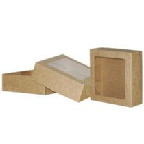 Caixa Com Visor 20 Cor Kraft(papelão)