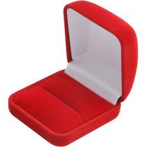 Caixa / Estojo De Veludo Anel Vermelha Ou Preta