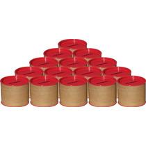 50 Cofrinhos De Papelão 6x6 - Tampa Vermelha