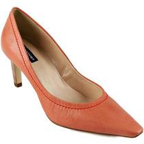 Sapato Scarpin Emporio Naka Coral Couro Legítimo Nº 37 38