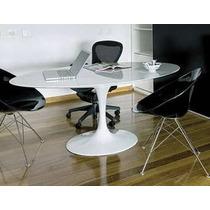 Mesa Saarinen Jantar Oval Nano Glass 1.80 X 1.00 X 73 H