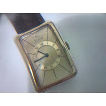 Relógio Pulso Masculino Retangular Elgin Dec.1960 Folh. Ouro