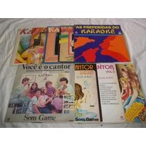 Lote Vinil Lp - Karaoke - Com 9 Discos