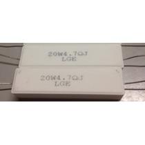 02 X Resistor 4r7 20w * 4.7r Axial * 4,7ohms 20 Watts