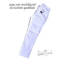 2 Calças C/ Lycra Feminina-jeans E Sarja-50 52 54 56 58 60