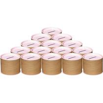 50 Cofrinhos De Papelão 6x6 - Tampa Rosa