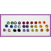 * Zirconias Coloridas 4 Cores Diferentes 20 Peças De 5mm