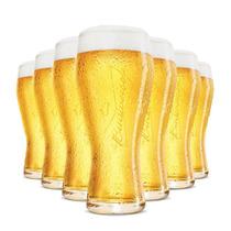 12 Copo Taca Cerveja Budweiser 400ml Original Bud Notafiscal