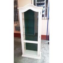 Cristaleira Armario Antiga Com Vidros Bisotados