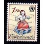 Tchecoslováquia 1986 * 40.anos Unicef * Boneca