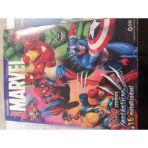 Álbum Livro Ilustrado Heróis Marvel