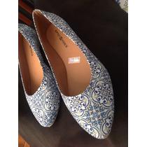 Sapatilha Em Estampa Azulejo Spot Shoes