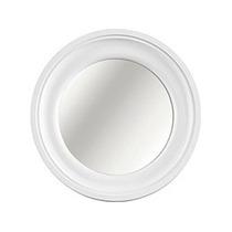 Kit 3 Espelhos Redondos Branco Moldura Entalhada