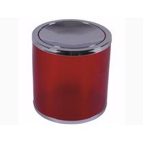 Cesto De Lixo Basculante Vermelho Translúcido