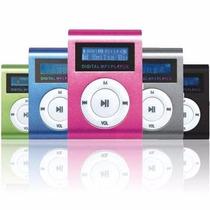 Mini Mp3 Player+fm Shuflle Clip+cartão De Memória 8gb!