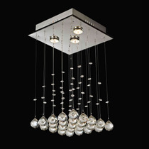 Lustre Pendente Cristal Para 3 Lâmpadas Luminart