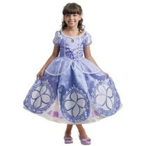 Fantasia Princesa Sofia Original Disney Vestido Longo D Luxo