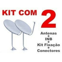Kit 2 Antenas Ku 60cm Completas Frete Grátis Para Todo País