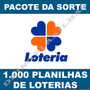 Pacote Da Sorte 1.000 Planilhas De Loterias