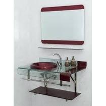 Kit Gabinete/pia/ Bancada Banheiro Estilo Astra Chopin 70cm