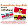 50 Travesseirinhos Almofadas Lembrancinha 40x20 Angry Birds