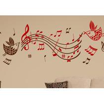 Adesivo Decorativo Para Parede Pássaros Musical