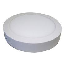 Painel Plafon Luminaria Sobrepor Led Redonda Spot 18w Kit 10