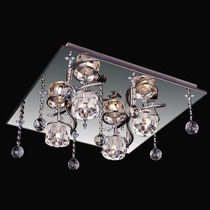 Plafon Led Cristal Com Controle Remoto Luminart 110v
