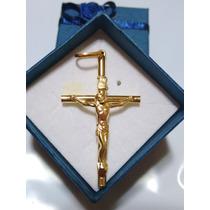 Leão Jóias Pingente Crucifixo Ouro 4 Cm 18k Certificado