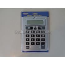 Calculadora De Mesa Slim Teclas Grandes Prata Big Daddy