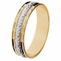 Aliança Casamento Abaulada Bodas Prata Ouro 18k - Gf15037