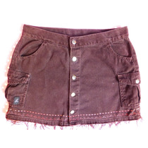 Mini Saia Jeans Marrom Botões Na Frente 38 Sawary