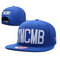Boné Azul E Branco Snapback Ymcmb - Pronta Entrega Brasil