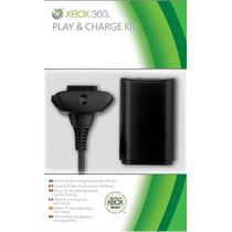 Kit Play & Charge Xbox 360 - Bateria E Carregador - Original