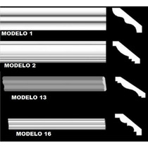Moldura De Isopor Eps Roda Teto 9 Cm De Face Kit 10 Metros