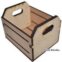 Mini Caixote De Feira 10x8x8 Mdf - Lembrancinha - Decoração