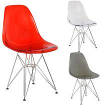 Cadeira Eiffel Charles Eames Acrílica Em 12x Sem Juros