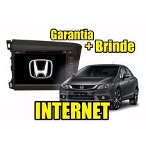Kit Central Multimidia Civic Dvd Gps 3g Tv Bt Cam Ré Garanti