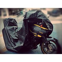 Capa Protetora Cobrir Moto Porta Baú Térmica Suzuki V-stron