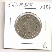 Ml-0108 - Moeda Do Equador - 1937 - Mbc