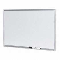 Lousa Quadro Branco Moldura De Aluminio 40 X 60 Cm + Brindes
