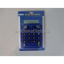 Calculadora De Mesa Slim Teclas Grandes Azul Big Daddy