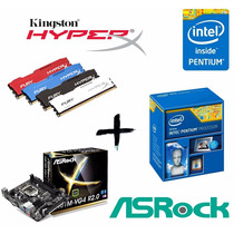 Kit Proc G3250 + Asrock H81m-vg4 + Mem 4gb Kingston Hyperx