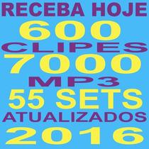 Pacote Dj Vj 7000 Músicas + 600 Clipes 2016 Receba Hoje 100g