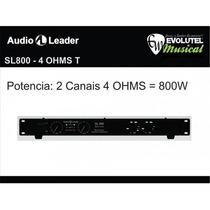 Potência (amplificador) Audio Leader Sl800 - Slim - 800watts