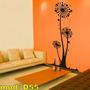 Adesivo D55 Planta Flor Girassol Árvore Adesivo Florzinha