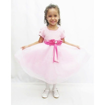 Vestido Infantil De Festa Princesa De Luxo-pronta Entrega