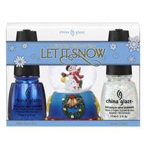 Kit Natal Esmaltes China Glaze Let It Snow - Frete Único!