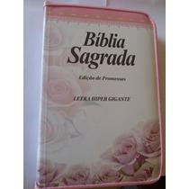 Bíblia Sagrada Edição De Promessas Letra Hiper Gigante Zíper